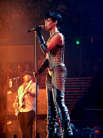 Rihanna - Rihanna performing at the Brisbane Entertainment Centre, 2008