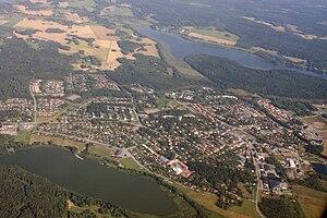 Rimbo - Rimbo aerial view from South.