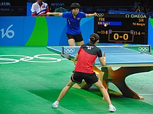 Rio 2016 - Women's table tennis quarter finals (29303543636).jpg
