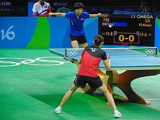 Kim Song-i - Kim (blue) at the 2016 Summer Olympics