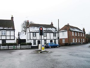 Angel Delight (album) - The Angel (right) in Little Hadham, Hertfordshire, after which this album was named