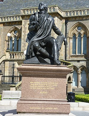 Robert Burns (Steell) - Image: Robert Burns statue, Dundee