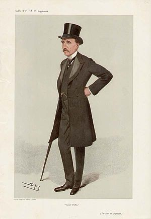 "Robert Windsor-Clive, 1st Earl of Plymouth - ""Good Works"". Caricature by Spy published in Vanity Fair in 1906."