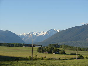 Robson Valley - A farm near McBride, BC, with views into the Cariboo Mountains