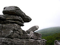 Rock formation in Dolly Sods