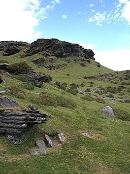Rocky outcrops on y Gyrn - geograph.org.uk - 185581