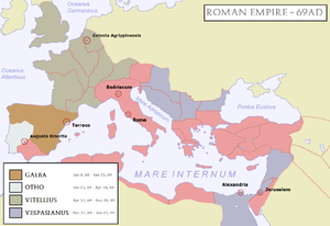 Battle of Bedriacum - The Roman Empire, 69AD. After the death of Nero, four influential generals successively vied for the imperial throne.
