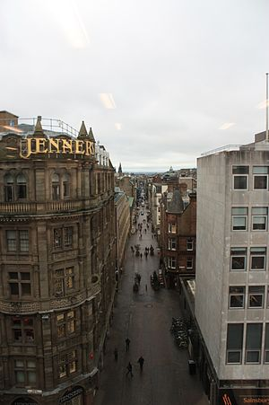 Rose Street - Rose St, Edinburgh as seen from Standard Life Building on St Andrew Square