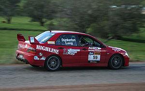 Ross Dunkerton - Ross Dunkerton in his Mitsubishi Lancer Evo IX