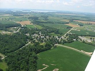 Roundhead, Ohio - Aerial view of Roundhead