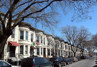 Residential area - Residential area in Brooklyn about a century after it was developed