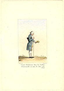 Rousseau in Ermenonville im Juni 1778 (Quelle: Wikimedia)