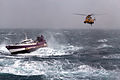 Royal Navy Sea King helicopter comes to the aid of French fishing vessel 'Alf' in the Irish Sea (8675799486).jpg