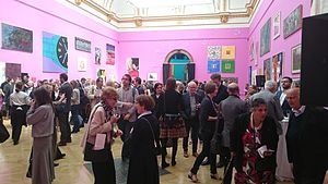 Royal Academy Summer Exhibition - View of one of the main rooms, June 2015