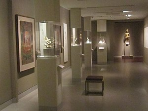 Rubin Museum of Art - The second-floor gallery with objects from the permanent collection