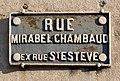 Rue Mirabel Chambaud (Valence) - panneau de rue (1).jpg