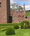 Ruins of Edzell Castle from within the garden - geograph.org.uk - 1518282.jpg
