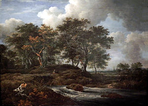 Landscape with Waterfall - Image: Ruisdael Eichen a e Gießbach