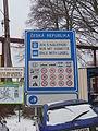 Rumburk, Vojtěcha Kováře, pokyny pro řidiče u hranice.jpg