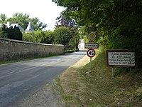 Rumigny (Ardennes) city limit sign.JPG