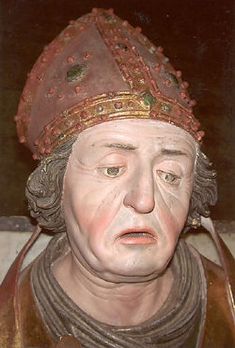Benedictines - Late Gothic sculpture of Rupert of Salzburg (c. 660–710)