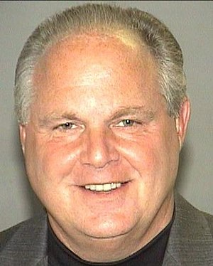 Rush Limbaugh booking photo from his arrest on...