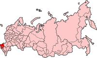 Θέση του Νοβορωσίσκ στο χάρτη της Ρωσίας