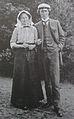 Ruth Kjellén o Manfred Björkquist Hampnäs 1913 Sigtunastiftelsens arkiv.JPG
