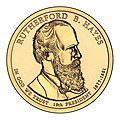 Rutherford B. Hayes $1 Presidential Coin obverse.jpg