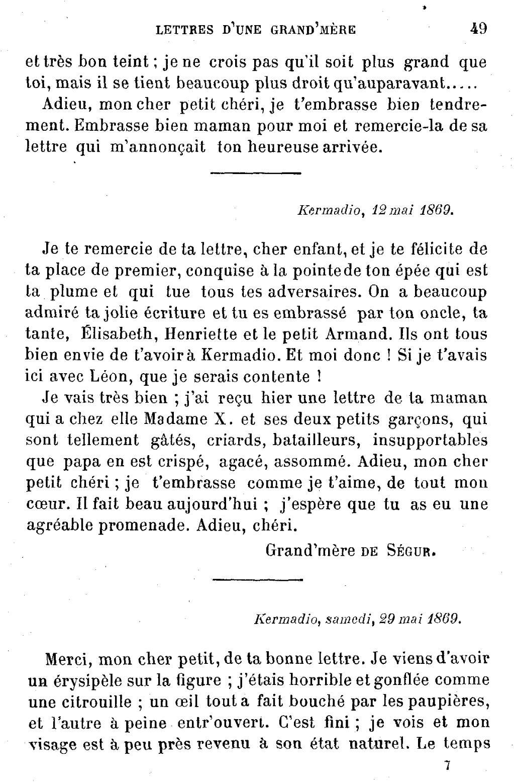 Pageségur Lettres D Une Grand Mèredjvu49 Wikisource