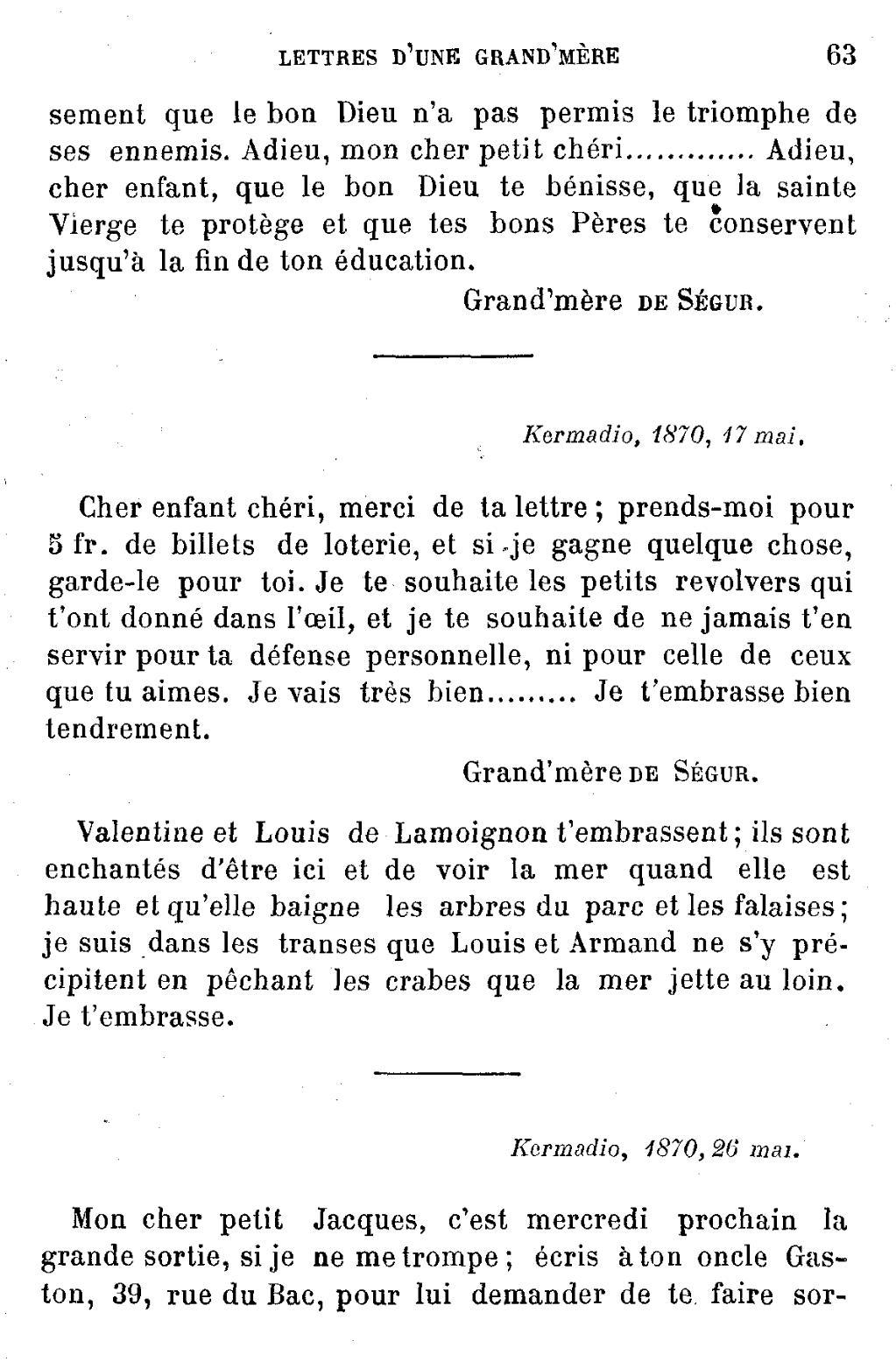 Pageségur Lettres D Une Grand Mèredjvu63 Wikisource