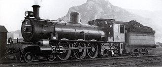 South African Class 5A 4-6-2 - CGR no. 903, SAR no. 721, Paardeneiland, c. 1940