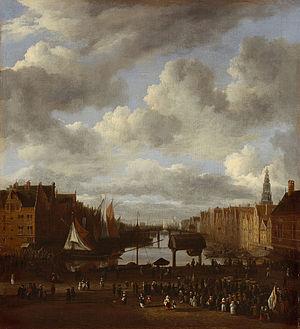 View of the Dam and Damrak at Amsterdam - Image: SB 6330 Het Damrak Het Damrak naar het noorden gezien