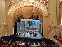 Stage and proscenium arch | The stage gets set up for Björk.… | Flickr