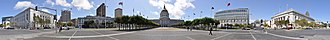 Civic Center, San Francisco - Image: SF Civic Center pano 01