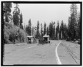 SOUTH ENTRANCE ON LASSEN PARK ROAD. LOOKING N. - Lassen Park Road, Mineral, Tehama County, CA HAER CA-270-4.tif