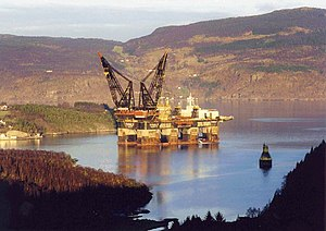 "Heerema Marine Contractors - ""Thialf"" in a Norway fjord"