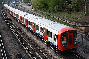 London Underground S7 and S8 Stock - S8 Stock during testing near Northwood