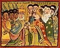 Saba ephiop Queen of Sheba meets King Solomon.jpg