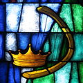 Saint James the Greater Catholic Church (Concord, North Carolina) - stained glass, David's harp & crown.JPG