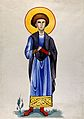 Saint Pantaleon. Watercolour painting. Wellcome V0033616.jpg