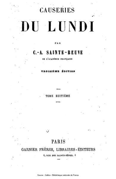 File:Sainte-Beuve - Causeries du Lundi, tome 8.djvu