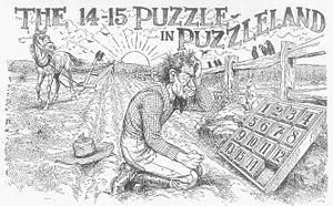 15 puzzle - Sam Loyd's 1914 illustration