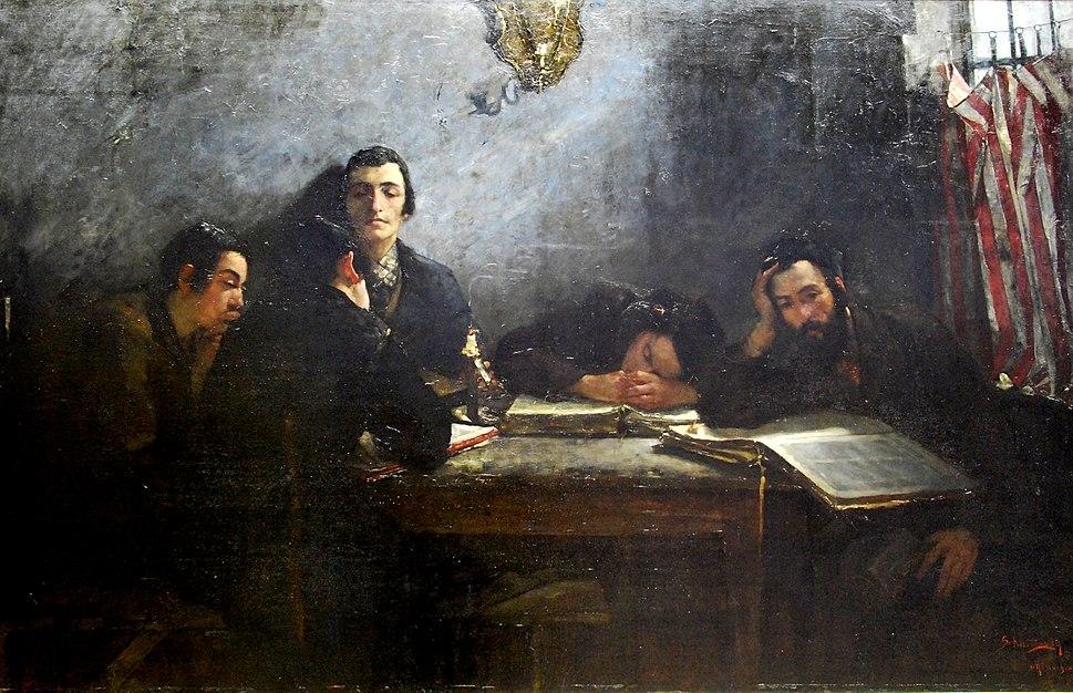 Samuel Hirszenberg 'Szkoła talmudystów'