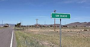 San Acacio, Colorado - Entering San Acacio from the east on State Highway 142
