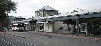 San Rafael Transit Center - The San Rafael Transit Center, waiting and loading area