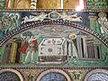 San vitale, ravenna, int., presbiterio, mosaici di dx 03 offerta di abele e melchidesech 01.JPG
