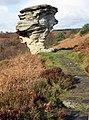 Sandstone outcrop, Low Bridestones - geograph.org.uk - 1031795.jpg
