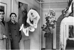 Emilio Scanavino - Emilio Scanavino and Sarah Jackson in London, 1951