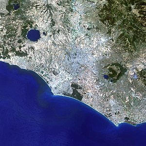 Metropolitan City of Rome Capital - Satellite picture of Rome metropolitan area.